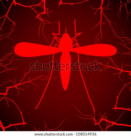 Mosquito on the red