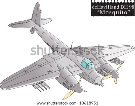 mosquito plane drawing