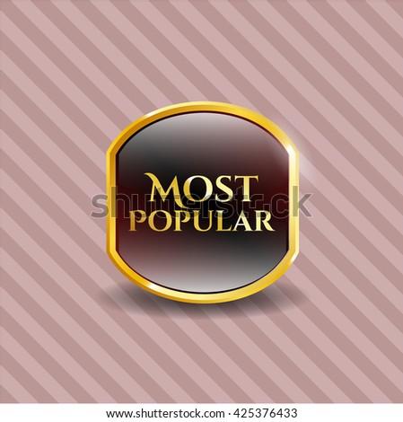 Most Popular gold shiny badge