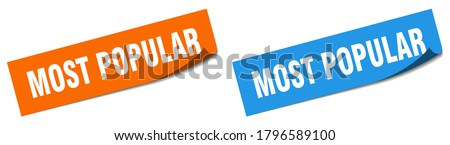 most popular paper peeler sign set. most popular sticker