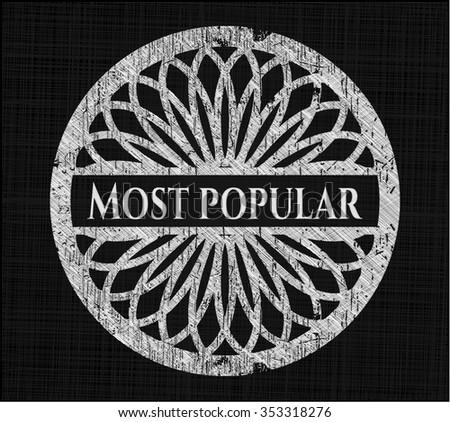 Most Popular written on a chalkboard