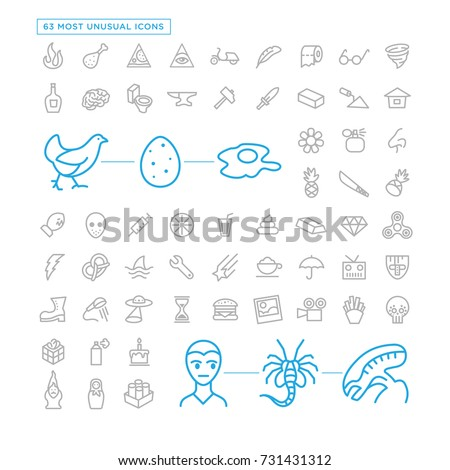 most unusual icon set 63 icons