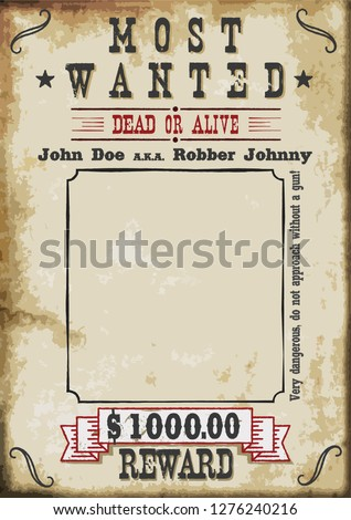 most wanted poster  1000 dollar