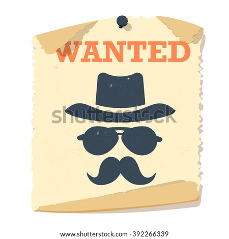 most wanted poster vintage
