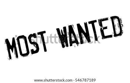 most wanted rubber stamp