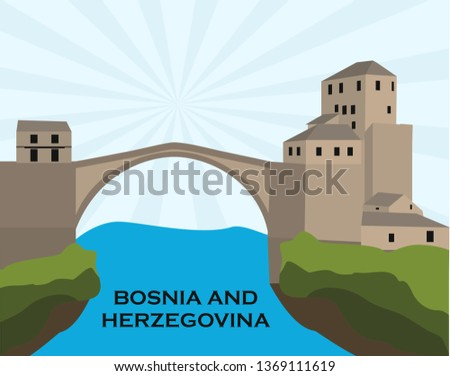 mostar old town  bosnia and