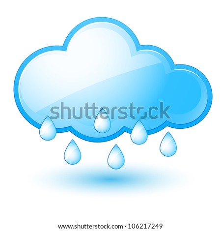 Mostly rain. Illustration on white background for design