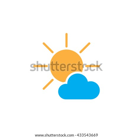 mostly sunny icon  mostly sunny