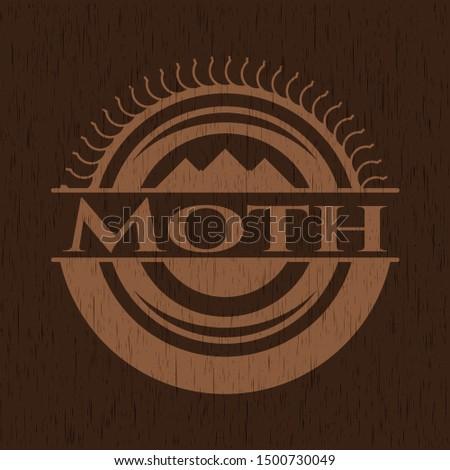 Moth wooden signboards. Vector Illustration.