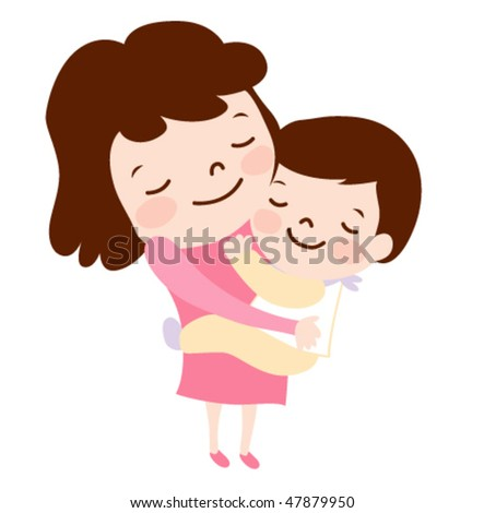 Mother and baby. vector illustration