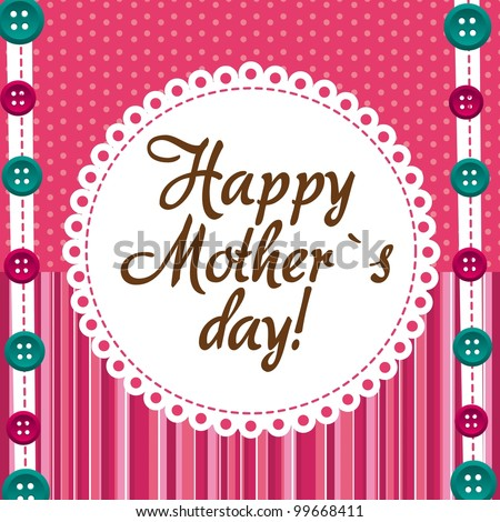 mother day over cute background with buttons. vector