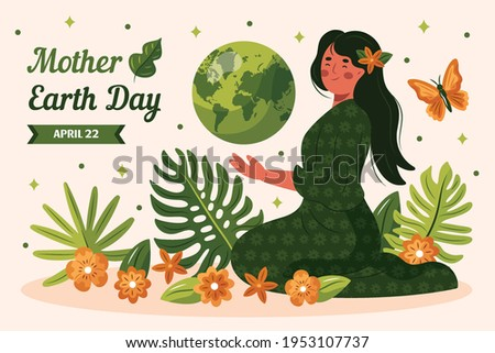 mother earth day banner of
