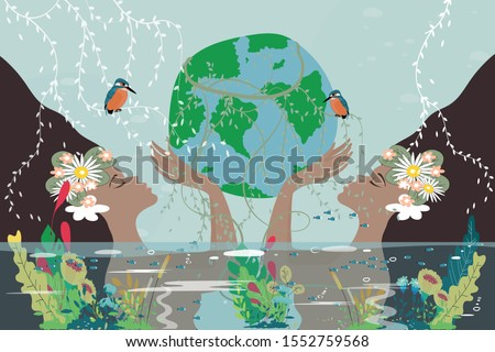 mother earth day poster with