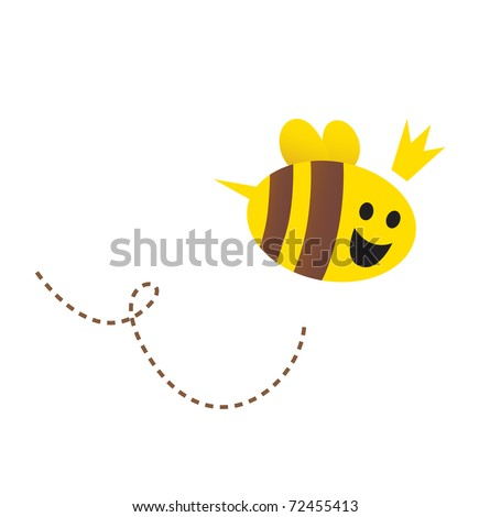 mother   queen bee isolated on