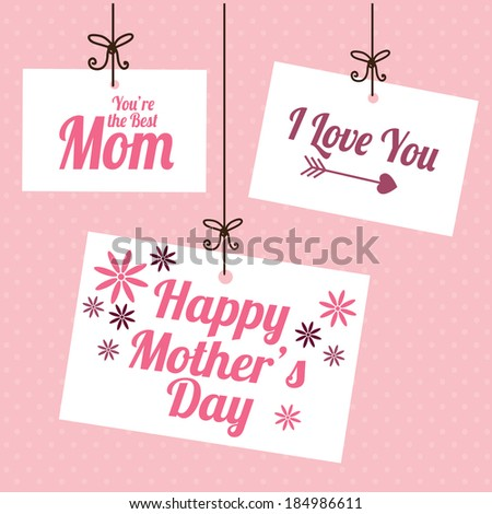 mother's day design over pink