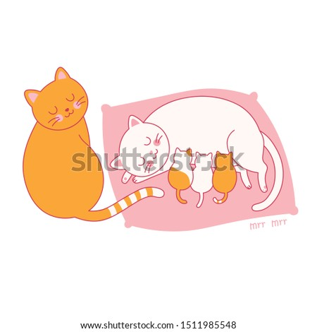 mother's day family of cats