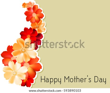 Mother's day floral card design #593890103