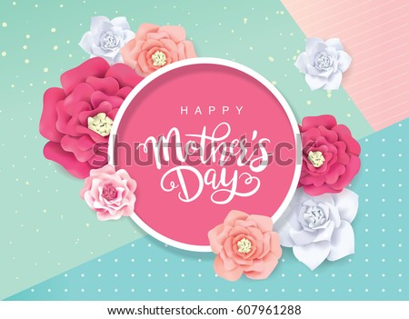 mother's day greeting card with