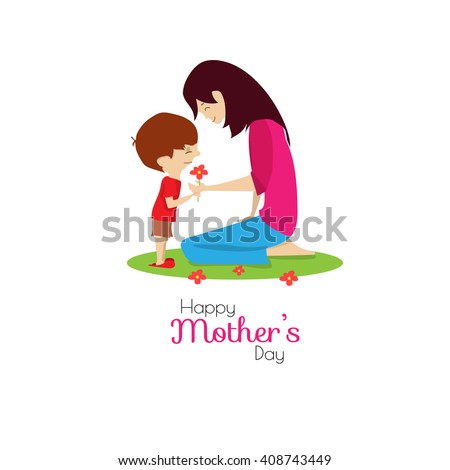Mother\'s day. People. Mom and son.