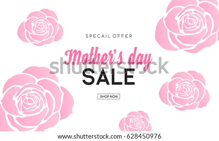 mother's day sale banner with
