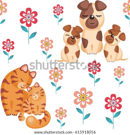 mother s day seamless pattern