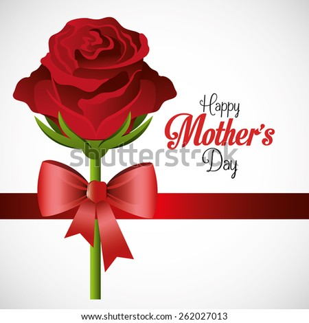 Mothers day card design, vector illustration.