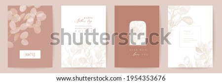 mothers day floral vector card