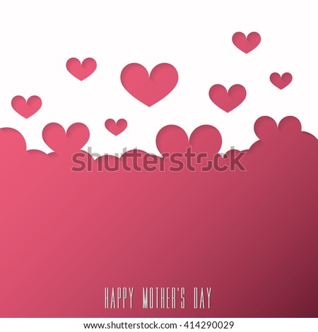 mothers day heart pattern