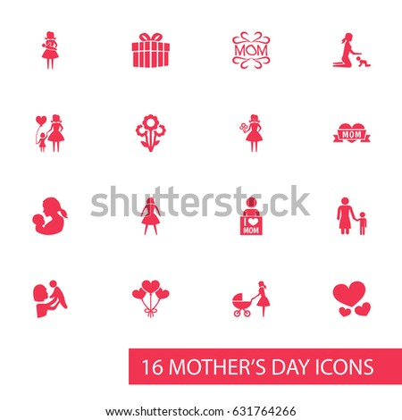 mothers day icon design concept