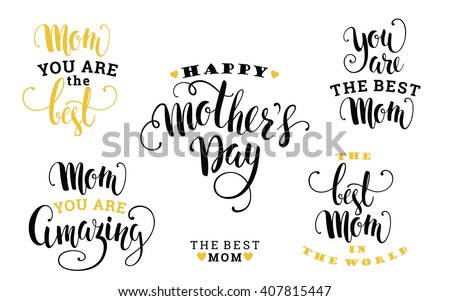 mothers day lettering design