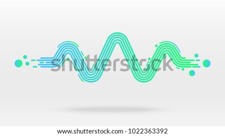 motion floating sound wave equalizer