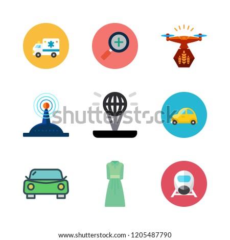 motion icon set vector set