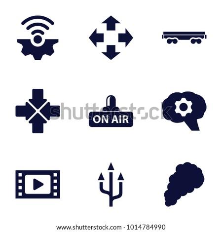 motion icons set of 9 editable