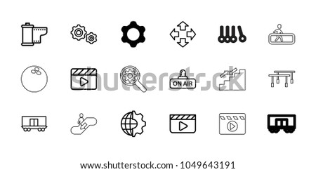 motion icons set of 18