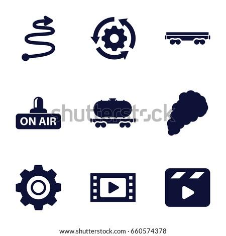 motion icons set set of 9