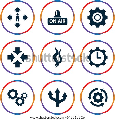 motion icons set set of 9