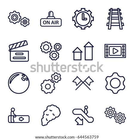 motion icons set set of 16
