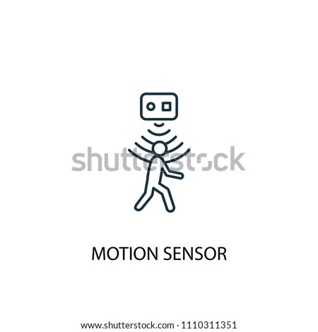 motion sensor concept line icon. Simple element illustration. motion sensor concept outline symbol design from Smart home set. Can be used for web and mobile UI/UX