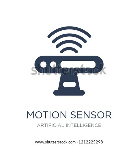 Motion sensor icon. Trendy flat vector Motion sensor icon on white background from Artificial Intelligence, Future Technology collection, vector illustration can be use for web and mobile, eps10