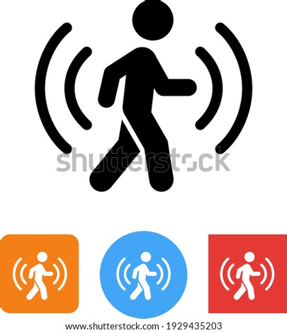 Motion Sensor Security System Signal Vector Icon Foto stock ©