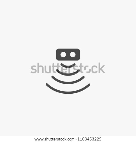 motion sensor vector icon