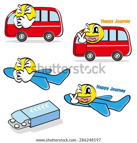 Cartoon Sick Airplane clip art Free Vector / 4Vector