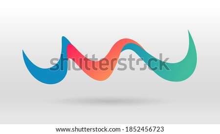 Motion sound wave up down movement abstract vector background Foto d'archivio ©