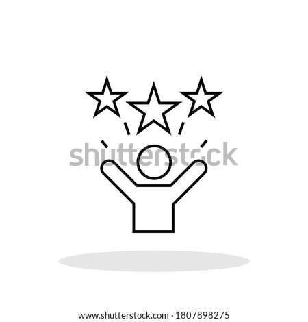 Motivation icon in trendy flat style. Motivate symbol for your web site design, logo, app, UI Vector EPS 10.