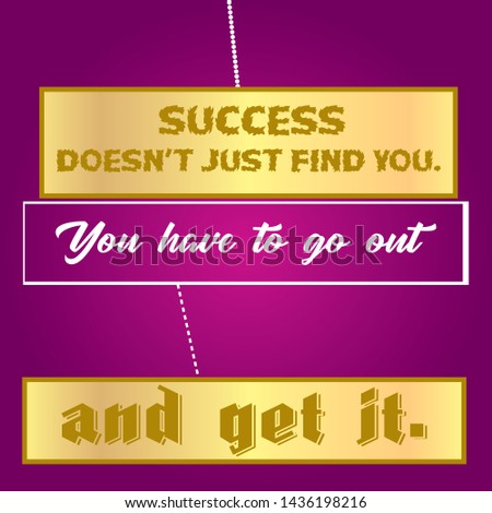 Motivational Quote about Success & Typographical design for T-shirt and apparels - VECTOR