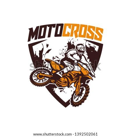 moto cross logo vector racing team dirt bike Stock photo ©