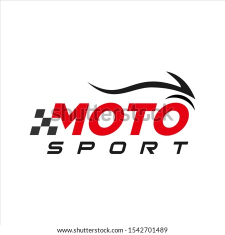 moto sport logo simple modern