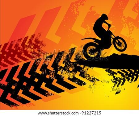 motocross background  vector