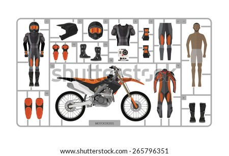 motocross bike silhouette with
