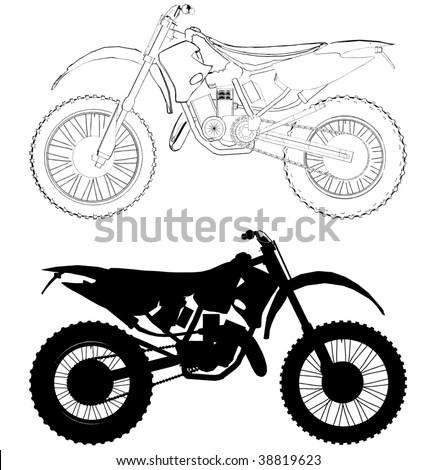 motocross bike vector 01